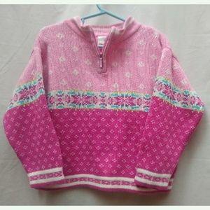 Hanna Andersson Pink Fair Isle Sweater 100/ 4